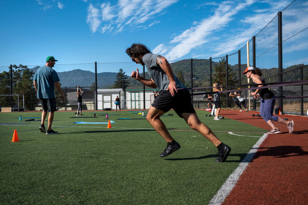 Stamin offers 100% outdoor workouts in Marin.