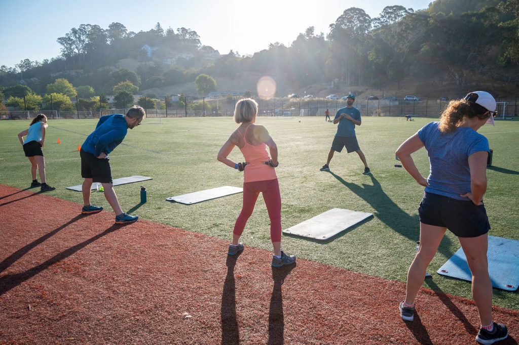 Outdoor workouts Marin.